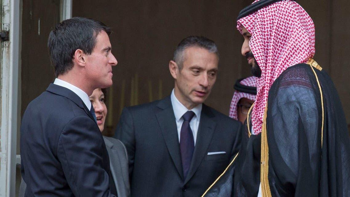 Saudi Deputy Crown Prince Mohammed bin Salman met with French Prime Minister Manuel Valls SPA