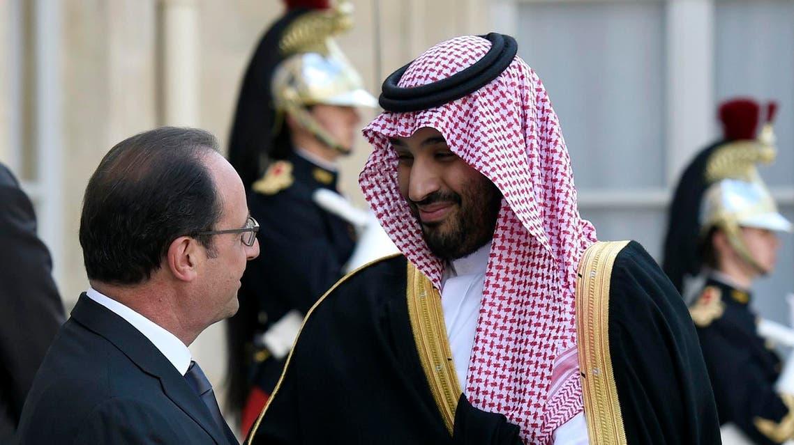 Saudi Deputy Crown Prince Mohammed bin Salman Francois hollande AFP