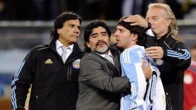 مارادونا: أهملوك يا ميسي.. لن أتخلى عنك
