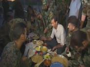 """الأسد """"يفطر"""" مع جنوده بالغوطة و""""يجوّع"""" أهلها"""