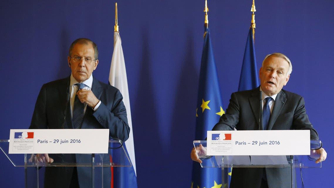 لافروف إيرولت باريس سوريا العربية الحدث فرانس برس