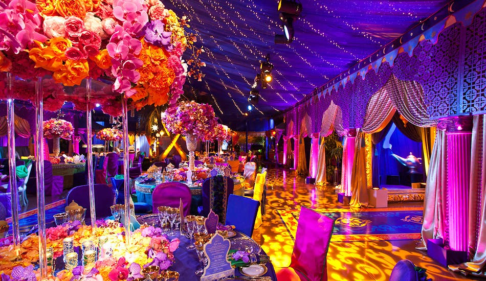 An Aladdin-themed wedding design. (Photo courtesy: http://www.revelryeventdesigners.com)