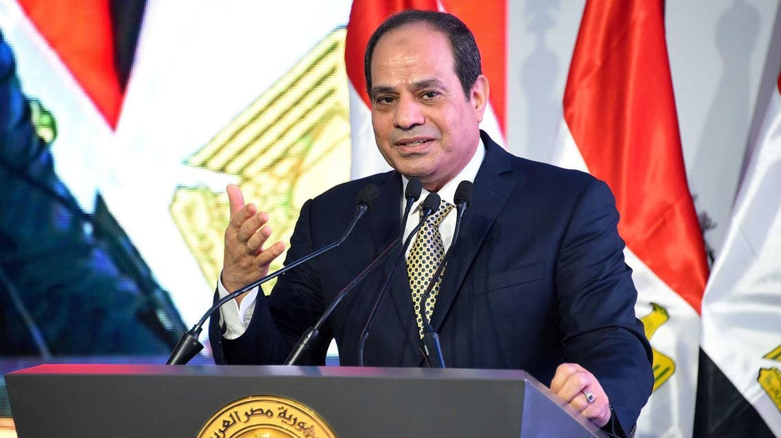 """gyptian President Abdel Fattah al-Sisi speaks during the opening of the first and second phases of the housing project """"Long Live Egypt"""", which focuses on development in the country's slums, at Al-Asmarat district in Al Mokattam area, east of Cairo, Egypt May 30, 2016 in this handout picture courtesy of the Egyptian Presidency. The Egyptian Presidency/Handout via REUTERS"""