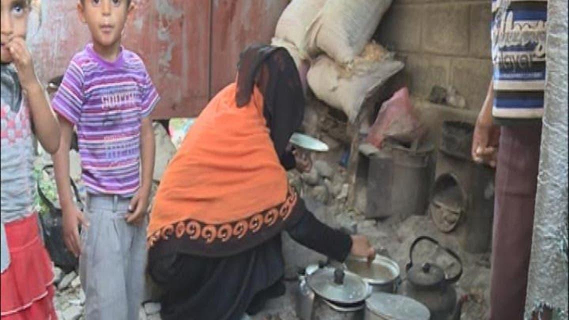 THUMBNAIL_ نازحون يمنيون يقيمون في مدرسة جنوب تعز