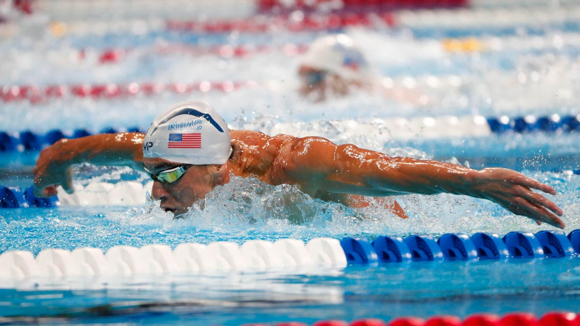 Jun 29, 2016; Omaha, NE, USA; Michael Phelps during the finals for the men's 200 meter butterfly in the U.S. Olympic swimming team trials at CenturyLink Center. (Reuters)