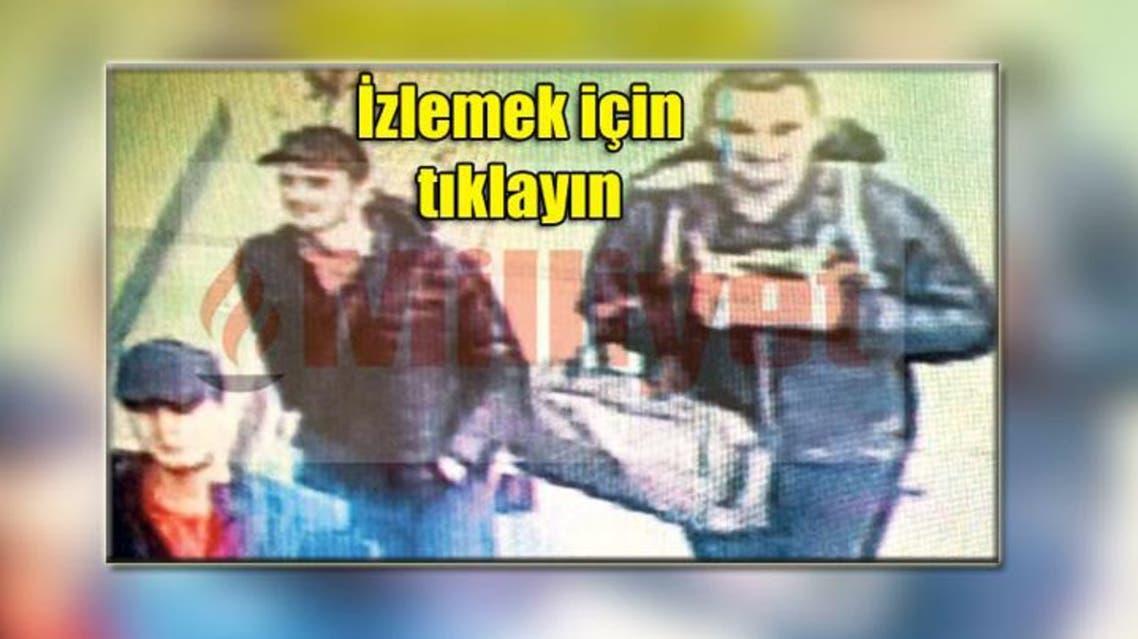 الانتحاريون الثلاثة، في لقطة واحدة بمطار اسطنبول