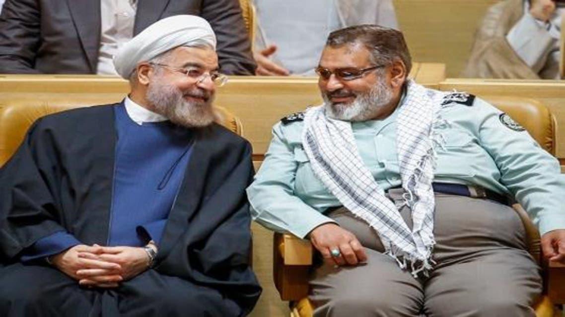 فيروز آبادي مع الرئي الايراني حسن روحاني
