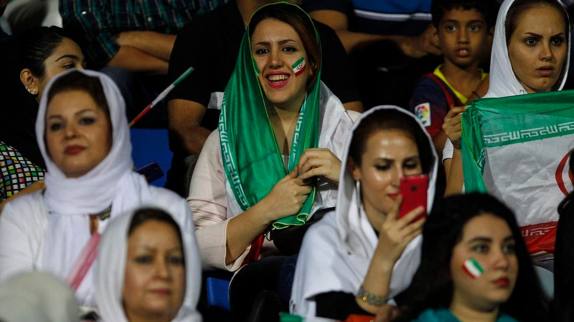 Iranian women are being denied their place inside sports venues again, with no way to watch their Olympic-bound men's volleyball team in person during this weekend's high-profile World League matches in Tehran (Photo: AP)