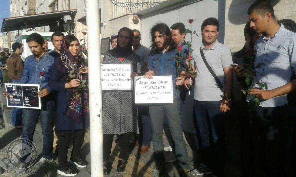 تجمع همدردی در برابر کنشولگری ترکیه در ارومیه