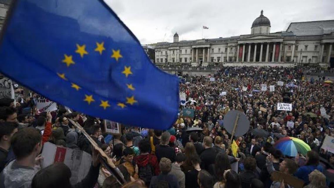 مظاهرات في لندن ضد الخروج من الاتحاد