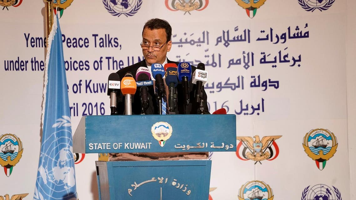 UN special envoy to Yemen Ismail Ould Cheikh Ahmed attends a news conference at the Ministry of Information in Kuwait City, Kuwait, June 30, 2016 (Photo: Reuters)
