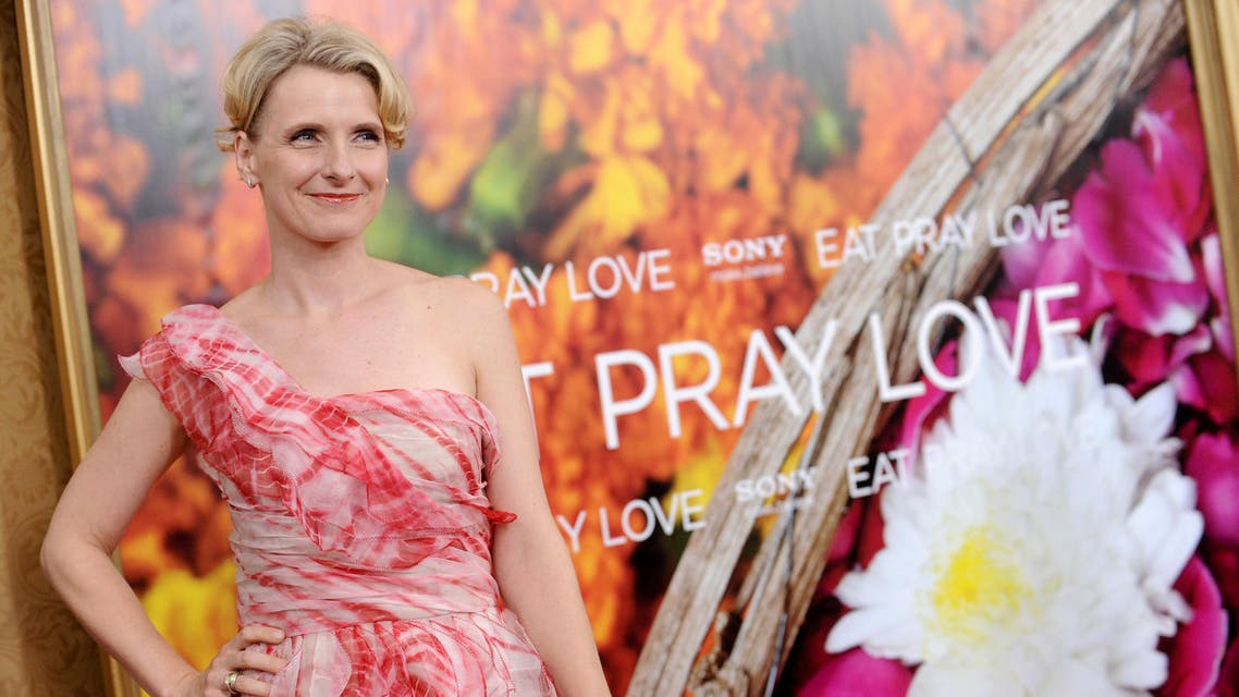 """Author Elizabeth Gilbert attends the the world premiere of """"Eat, Pray, Love"""" at the Ziegfeld Theatre in New York. (File photo: AP)"""