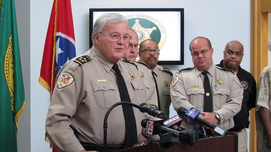 Shelby County Sheriff Bill Oldham speaks at a news conference about the fatal stabbings of four children on Saturday, July 2, 2016 in Memphis, Tenn. Shanynthia Gardner of Memphis was charged with four counts of first degree murder while committing aggravated child neglect in the deaths of four of her children — all under the age of 5 — whose bodies were found after deputies entered her apartment in unincorporated Shelby County. (AP Photo/Adrian Sainz).