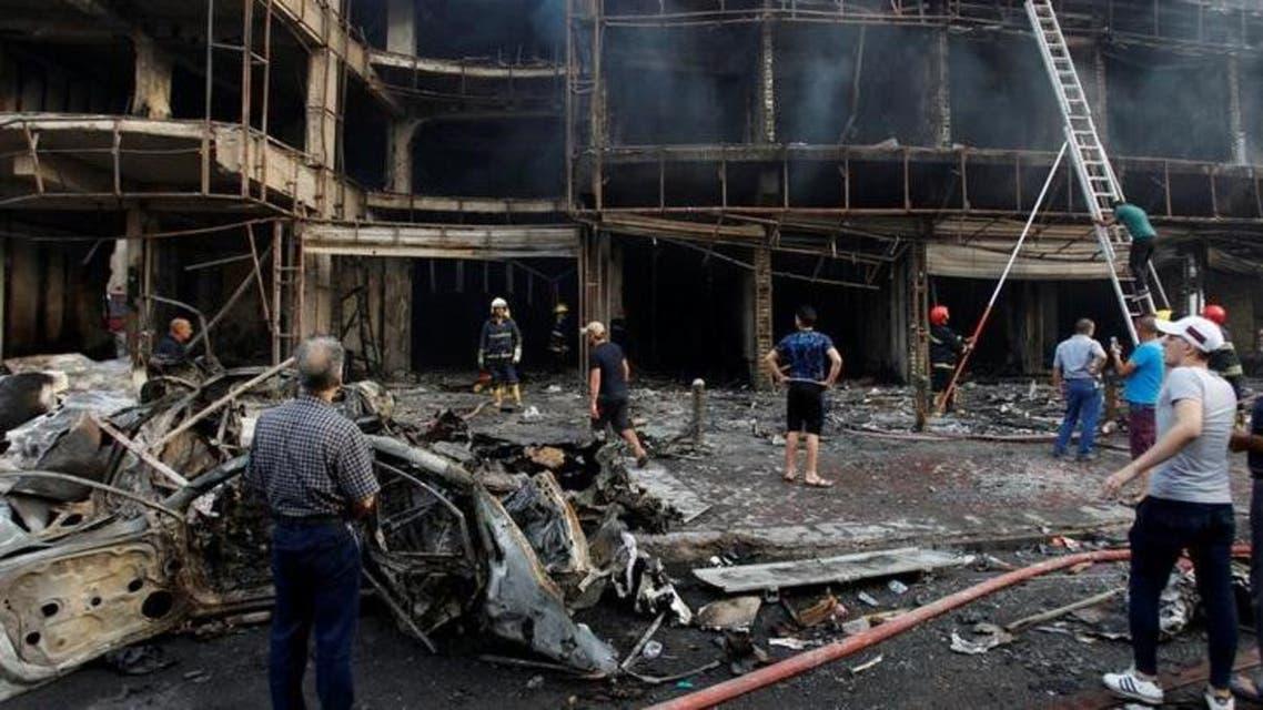 82 قتيلاً في انفجار سيارة مفخخة بحي الكرادة في بغداد