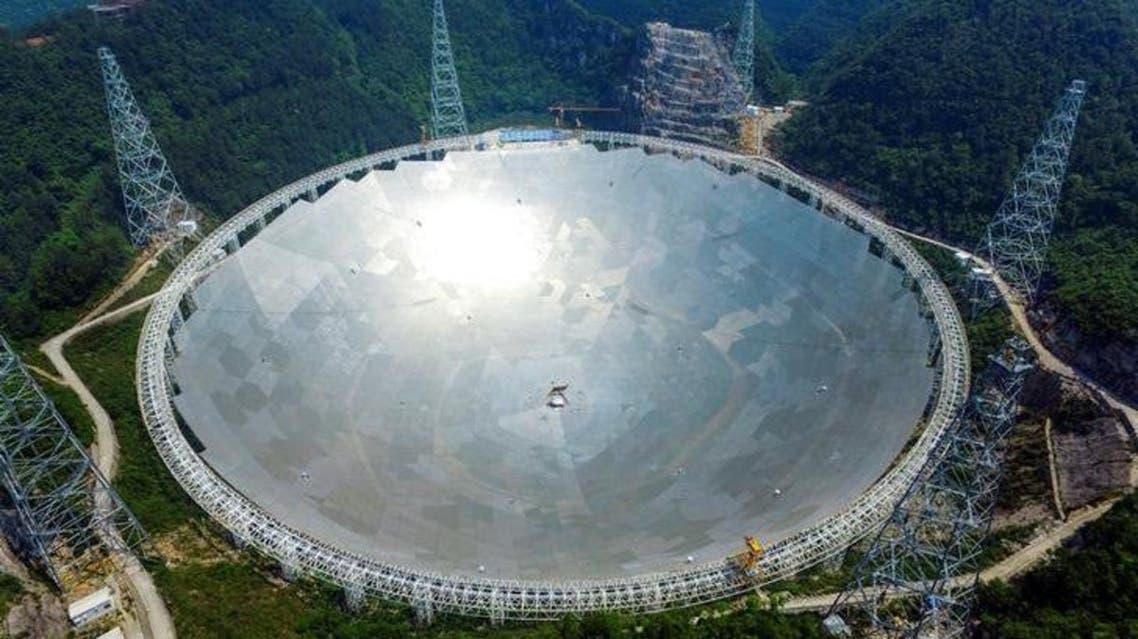 التلسكوب الصيني العملاق (فاست) في إقليم قويتشو - رويترز