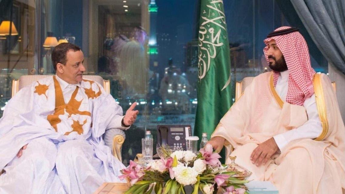 محمد بن سلمان مع ولد الشيخ احمد