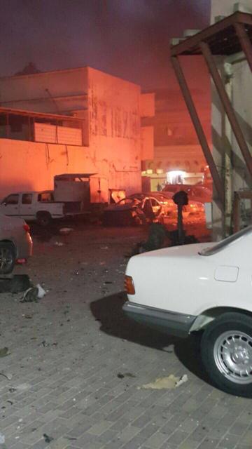 صورة متداولة على مواقع التواصل لتفجير القطيف الانتحاري