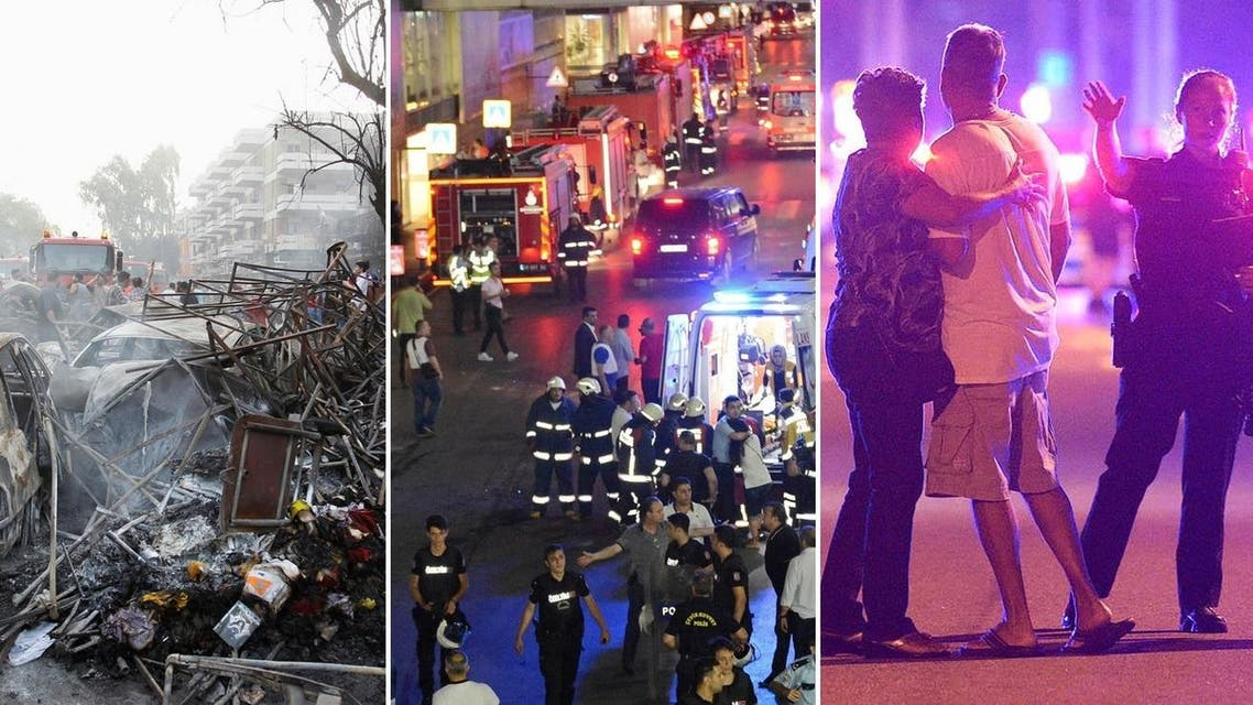 (L-R) Attacks in Baghdad, Istanbul and Orlando have been among the deadly terrorist attacks during Ramadan. (Photos: AFP, AP, Reuters)