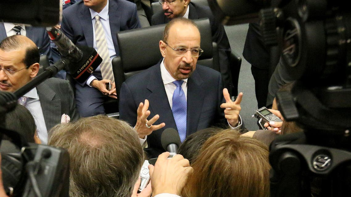 Falih said Saudi Arabia was seeking, through OPEC, to continue playing its role in meeting the growing global demand for oil and ensuring the reliability of the continued flow of oil supplies. (AP)