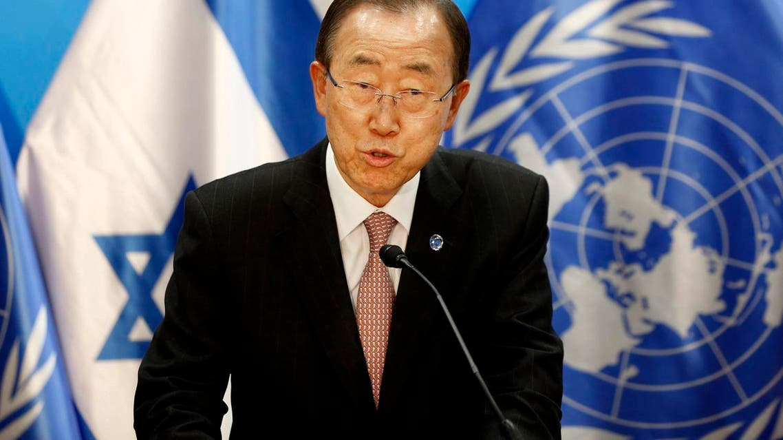 UN Secretary General Ban Ki-moon at a recent joint press conference with Israeli Prime Minister Benjamin Netanyahu in Jerusalem (File Photo: AP)