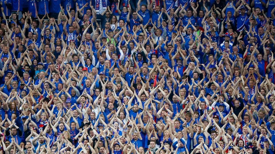 Football Soccer - France v Iceland - EURO 2016 - Quarter Final - Stade de France, Saint-Denis near Paris, France - 3/7/16 Iceland fans REUTERS