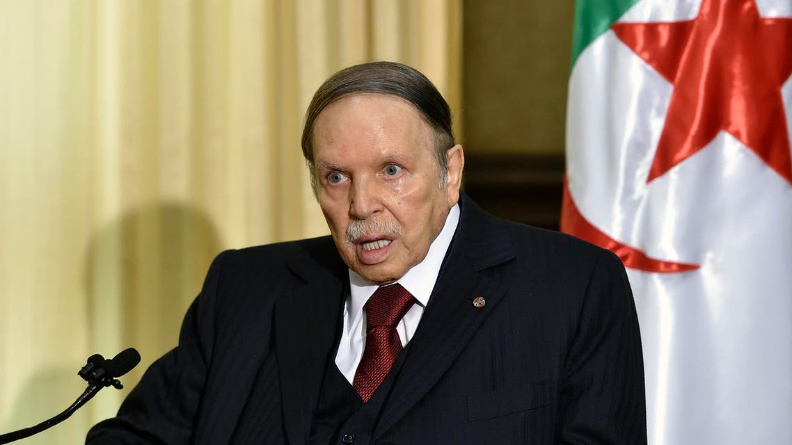 A file photo shows Algerian President Abdelaziz Bouteflika on April 10, 2016 in Zeralda, a suburb of the capital Algiers. (AFP)
