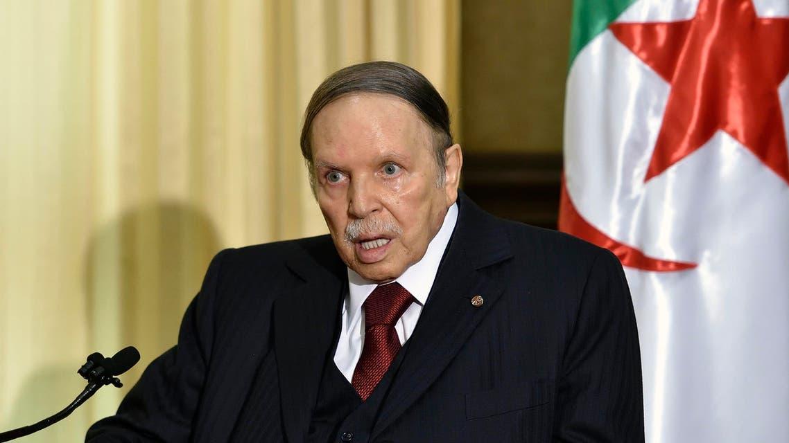 A file photo shows Algerian President Abdelaziz Bouteflika on April 10, 2016 in Zeralda, a suburb of the capital Algiers. (AFP)