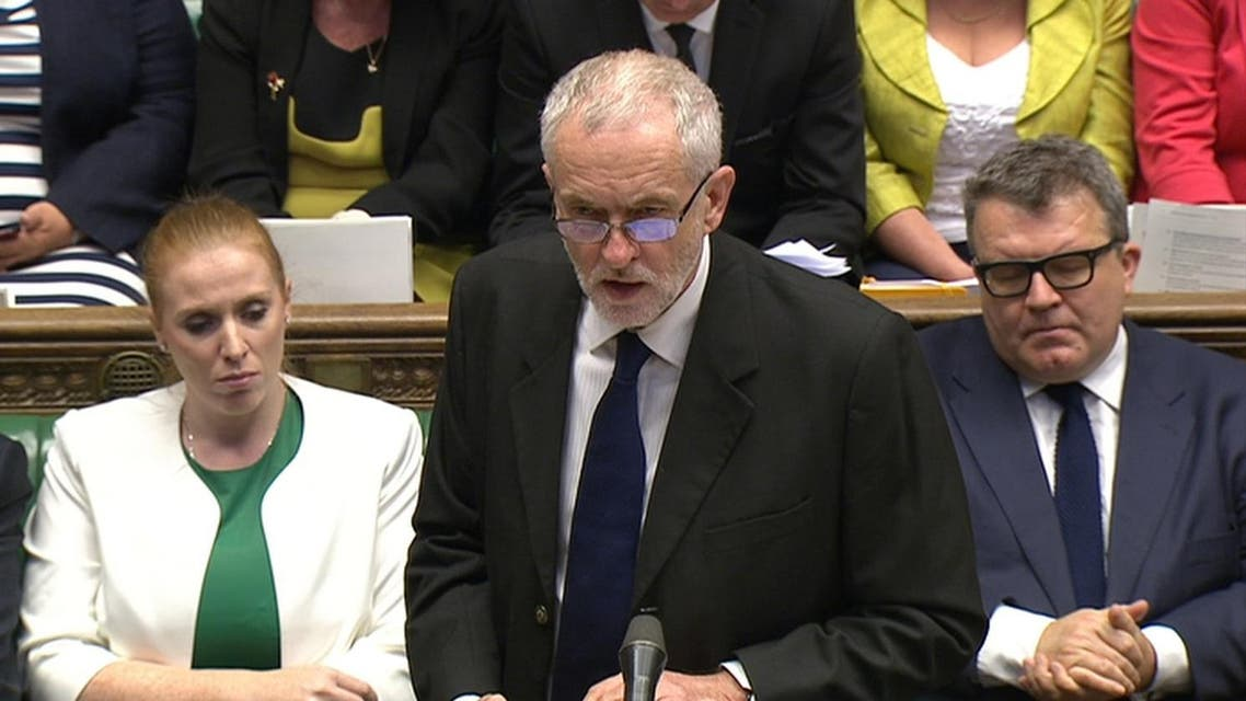 A still image from video shows Britain's Labour Party leader Jeremy Corbyn speaking to the House of Commons during Prime Minister's Questions, in London, Britain July 6, 2016. REUTERS/UK Parliament via REUTERS