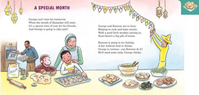 Curious George observes Ramadan. (Photo courtesy: Houghton Mifflin Harcourt)