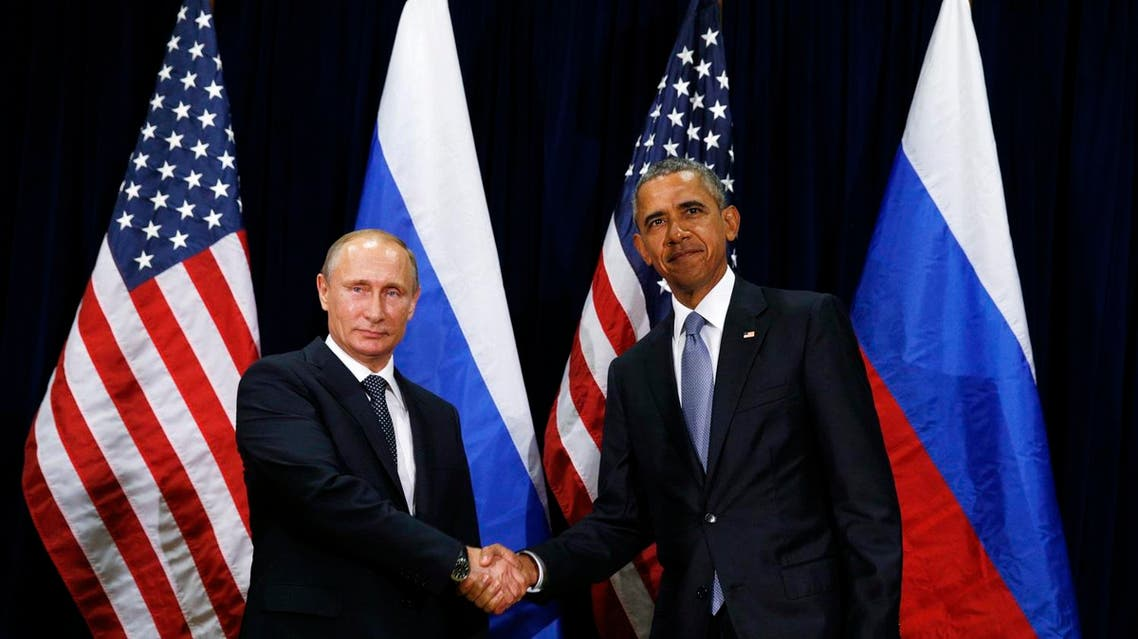 U.S. President Barack Obama (R) meets with Russian President Vladimir Putin during the 70th session of the United Nations General Assembly at the U.N. Headquarters in New York, September 28, 2015. REUTERS