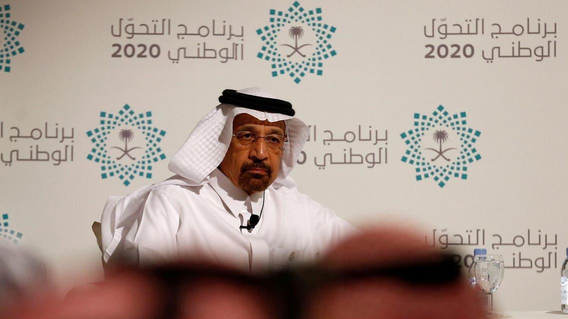 Saudi Energy Minister Khalid al-Falih attends a news conference announcing the kingdom's National Transformation Plan, in Jeddah, Saudi Arabia June 7, 2016. REUTERs