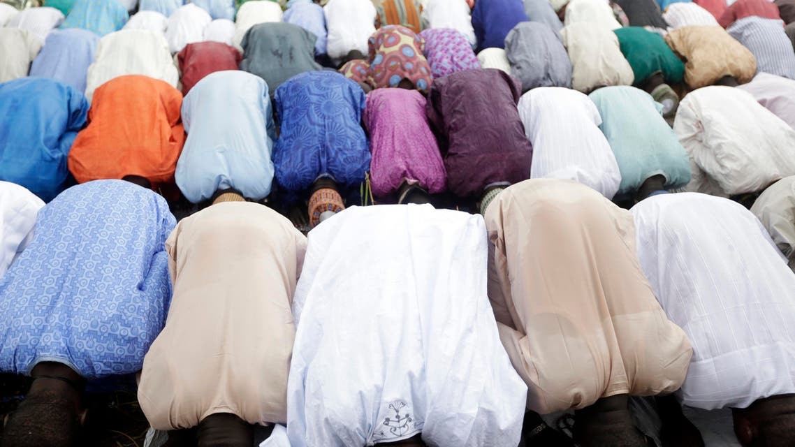 Nigeria Muslims attend the Eid al-Fitr prayers as Muslims around the world celebrate the end of the holy month of Ramadan, in Lagos, Nigeria, Wednesday, July 6, 2016. (AP)