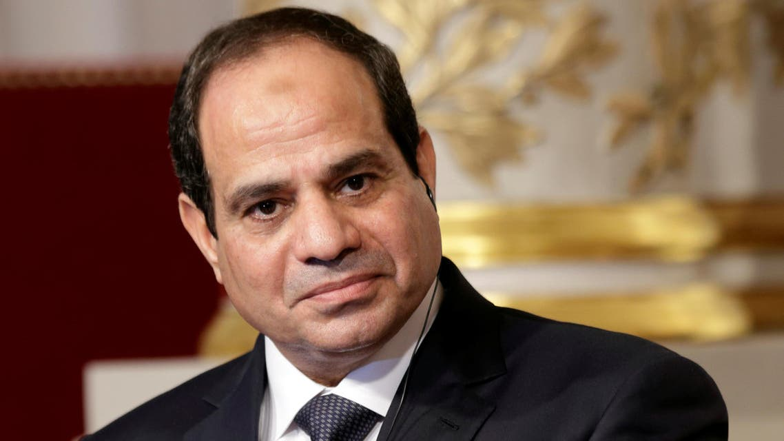 Egyptian President Abdel Fattah al-Sisi delivers a statement following a meeting with French President Francois Hollande at the Elysee Palace in Paris, France November 26, 2014. (Reuters)