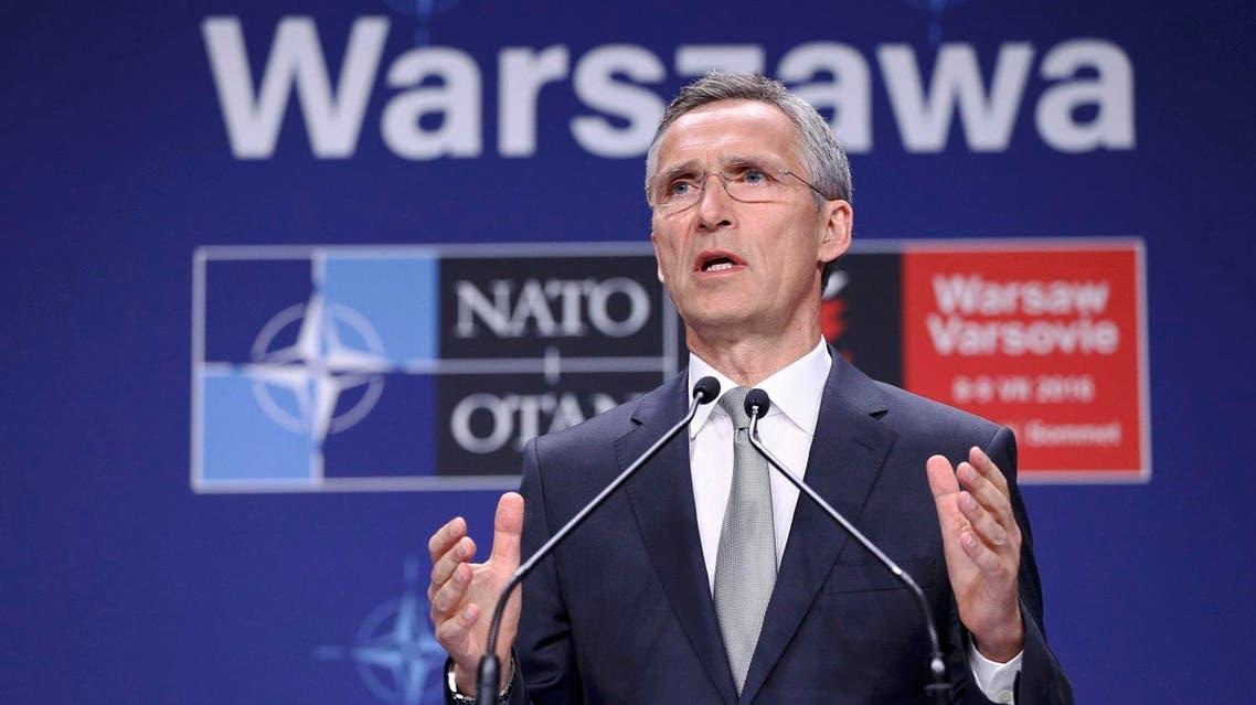 NATO Secretary General Jens Stoltenberg speaks at a news conference during the NATO Summit in Warsaw, Poland, July 9, 2016. Agencja Gazeta/Adam Stepien/via REUTERS