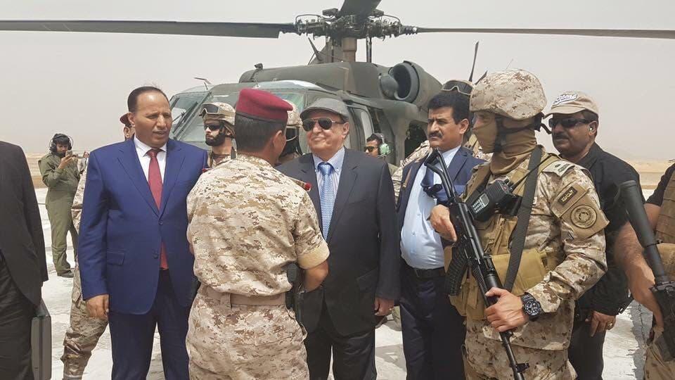 أول زيارة للرئيس اليمني إلى مارب منذ انقلاب الحوثي