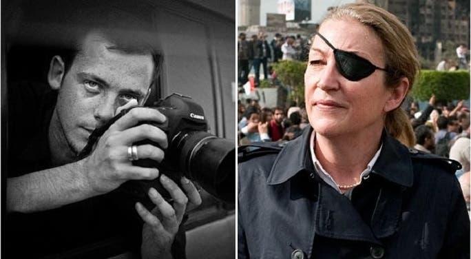 ماري كولفن قتلت والمصور الفرنسي ريمي أوشليك في فبراير 2012 بحمص، وعينها فقدتها في سريلانكا