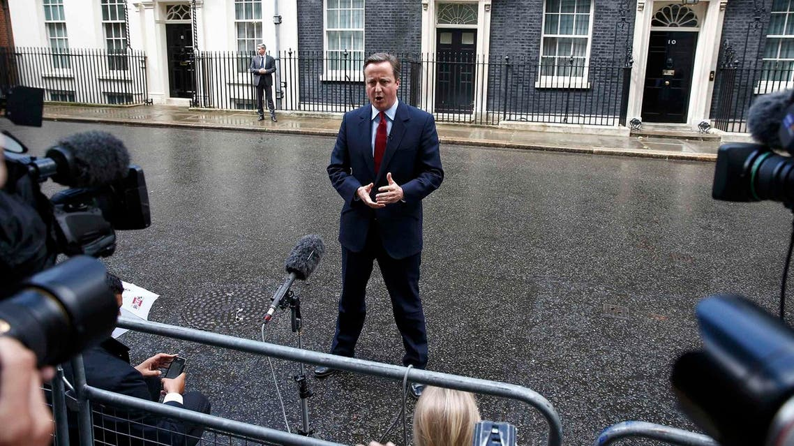 Britain's Prime Minister David Cameron makes a statement outside 10 Downing Street in Westminster, London, July 11, 2016 (Photo: Reuters)