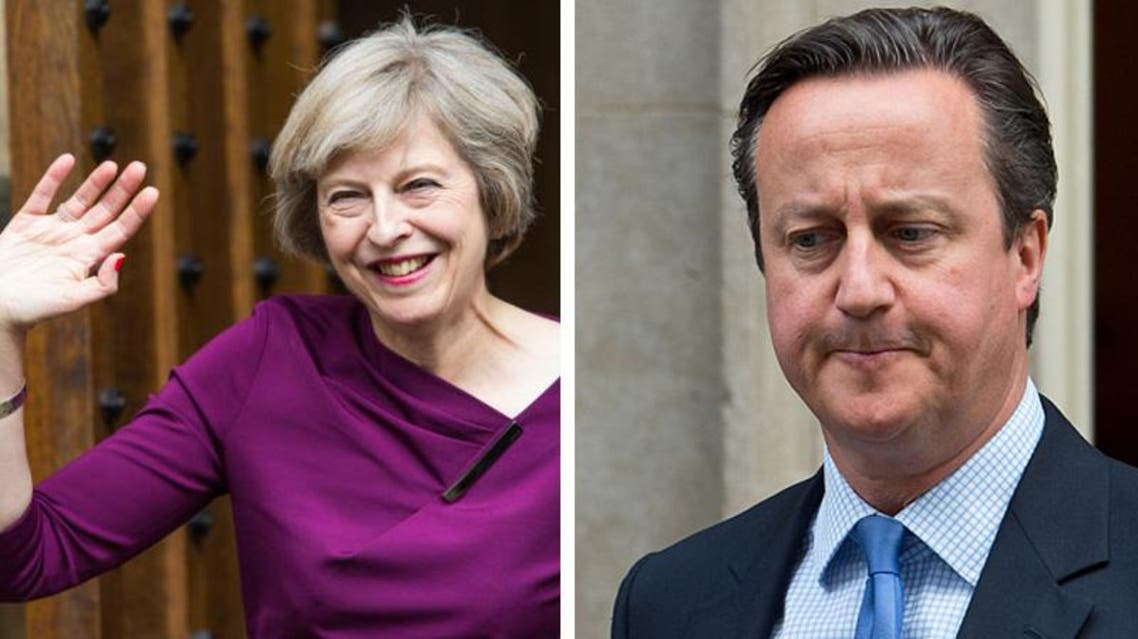 Theresa May and cameron