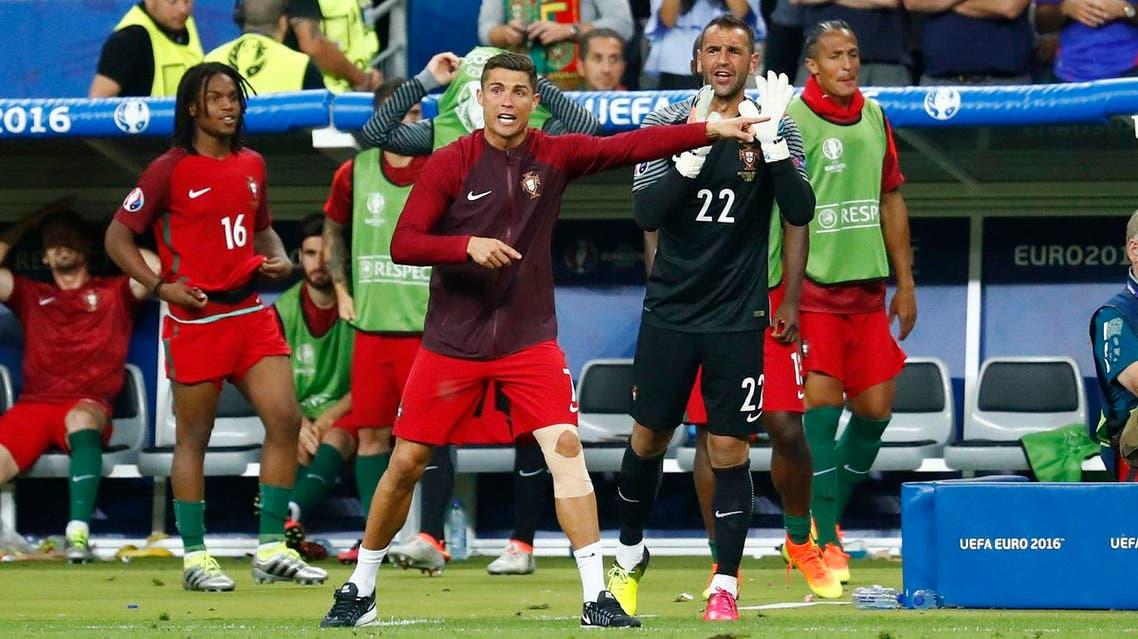 Portugal's Cristiano Ronaldo gestures REUTERS