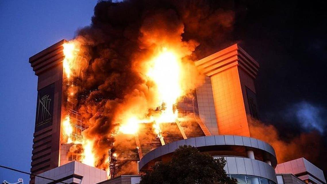 حريق إيران