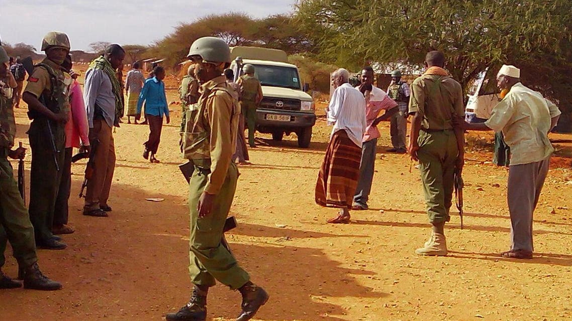 Militants rammed a car packed with explosives into a Somali army base southwest of the capital on Monday. (AP)