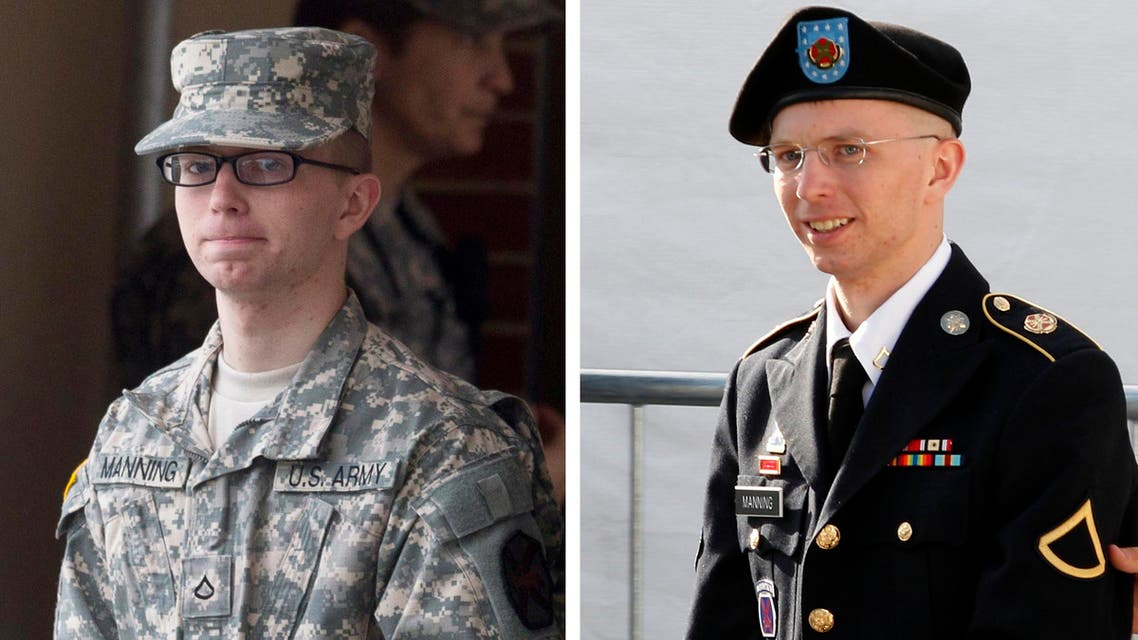 A combination photo shows U.S. soldier Chelsea Manning, who was born male Bradley Manning but identifies as a woman, imprisoned for handing over classified files to pro-transparency site WikiLeaks. (Reuters)