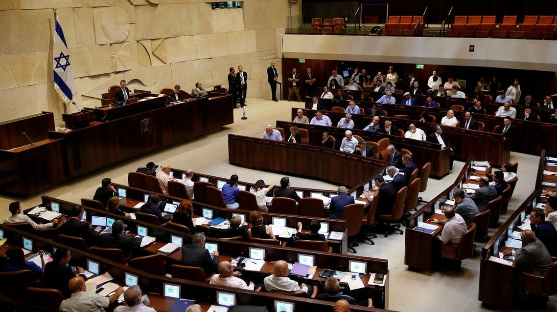 A general view shows the plenum during a session at the Knesset, the Israeli parliament, in Jerusalem July 11, 2016. REUTERS/Ronen Zvulun