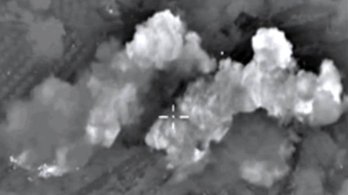 A video grab made on October 13, 2015, shows an image taken from a footage made available on the Russian Defence Ministry's official website. (AFP)
