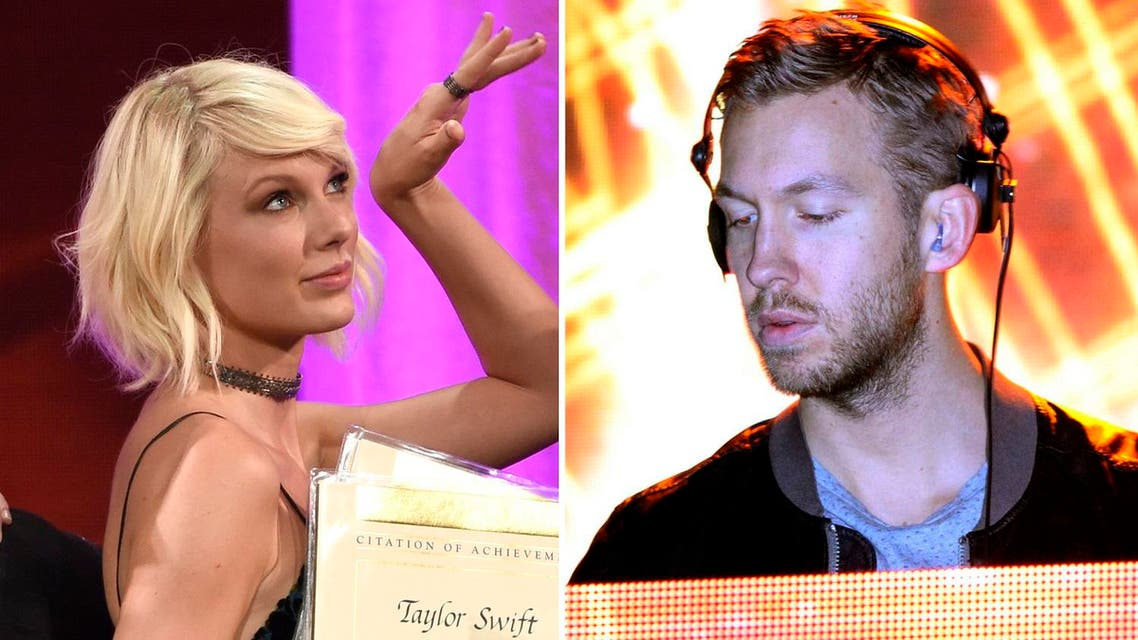Calvin Harris also hit a potential sore spot by referring to Taylor Swift's famed bad blood with fellow US pop superstar Katy Perry. (AP)
