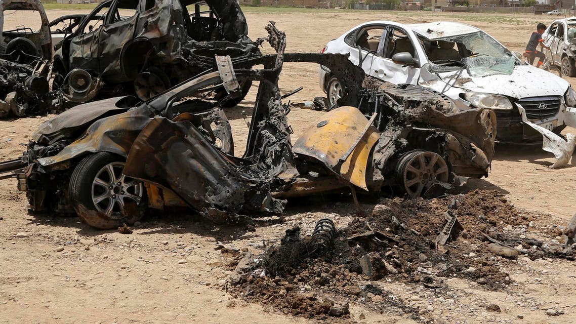 Wreckage remains at the scene of a deadly car bombing in al-Rashidiya district of Baghdad, Iraq, Wednesday, July 13, 2016. (File Photo AP)