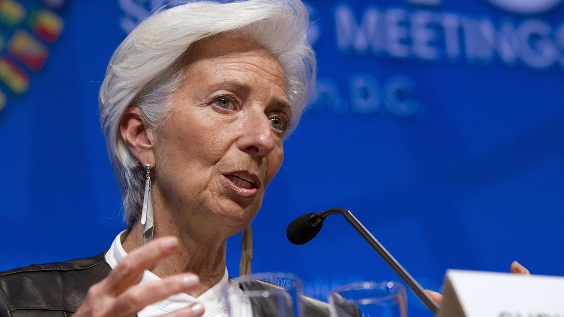 International Monetary Fund Managing Director Christine Lagarde speaks in a news conference after the International Monetary and Financial Committee conference at the World Bank in Washington. (File Photo: AP)