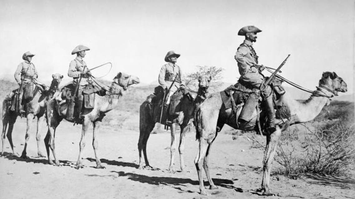 Four German soldiers seen patrolling in present-day Namibia in 1906. (Photo courtesy Wikimedia Commons)