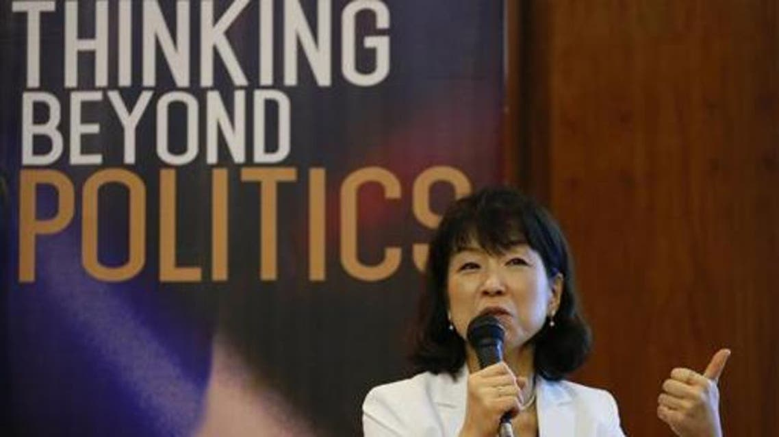 International law Prof. Mariko Kawano of Japan's Waseda University talks about her views during a forum on the ruling by the Hague-based UN international arbitration tribunal favoring the Philippines in its case against China on the South China Sea Friday, July 15, 2016 in Manila, Philippines. (AP)
