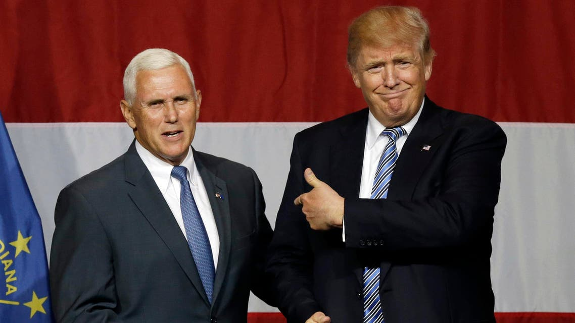 Viewed as a safe pair of hands, Pence, 57, has diverging views with Trump on his proposed Muslim ban and trade, and is more socially conservative. (AP)
